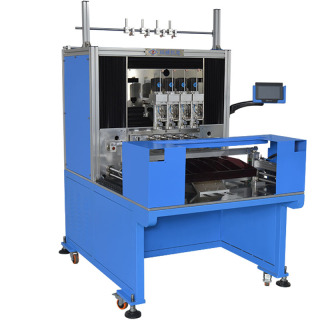 WZY-P15404CP  4轴/6轴精密每轴独立排线带剥漆功能绕线机 4 Spindle Precision Spreading Stripping and Winding Machine