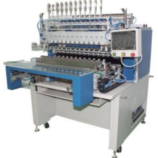 WZY-5412LA/TA 全自动12,16轴精密绕线包胶机  Automatic 12/16 Spindle Precision Winding and Taping Machine