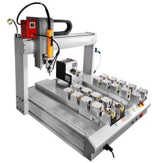 压力表锁螺丝 双工位四轴 吸气式 真空 浮锁 滑牙检测 锁螺丝机