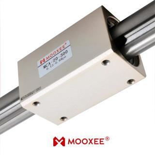 牧气精密MCA20-300无杆气缸 长寿命长行程 气动执行元件现货定制