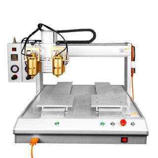 厂家直销 双工位全自动热熔点胶机  全自动点胶机定制 4轴点胶机