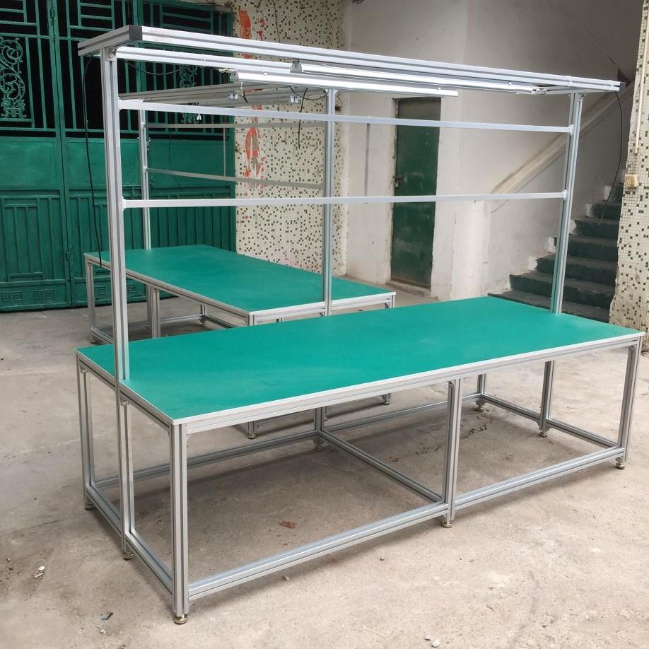 厂家直销广东防静电工作台东莞铝型材工作台定制可移动工作台