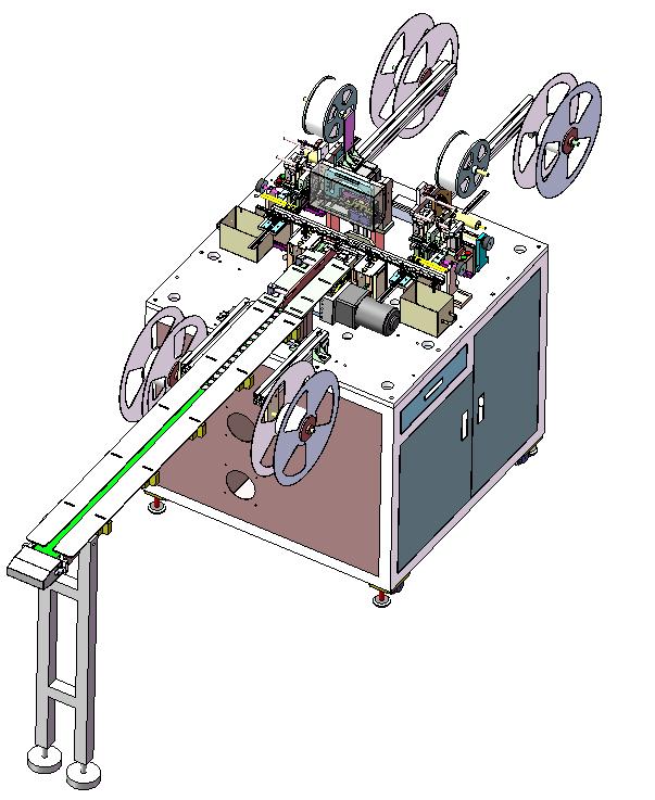 屏蔽罩流水线式一出二光耦检测包装机