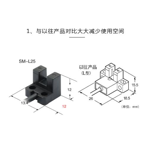 SUENW神武微槽型光电限位开关感应传感器SM-L25替PM-L25