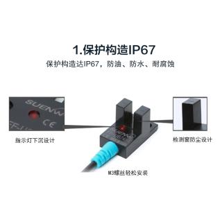 SUENW神武U槽型光电式限位开关感应传感器FF-U674-1替EE-SX674-WR