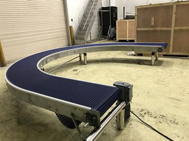 模块转弯网链厂家 塑料转弯网链报价 转弯型模组网带供应商