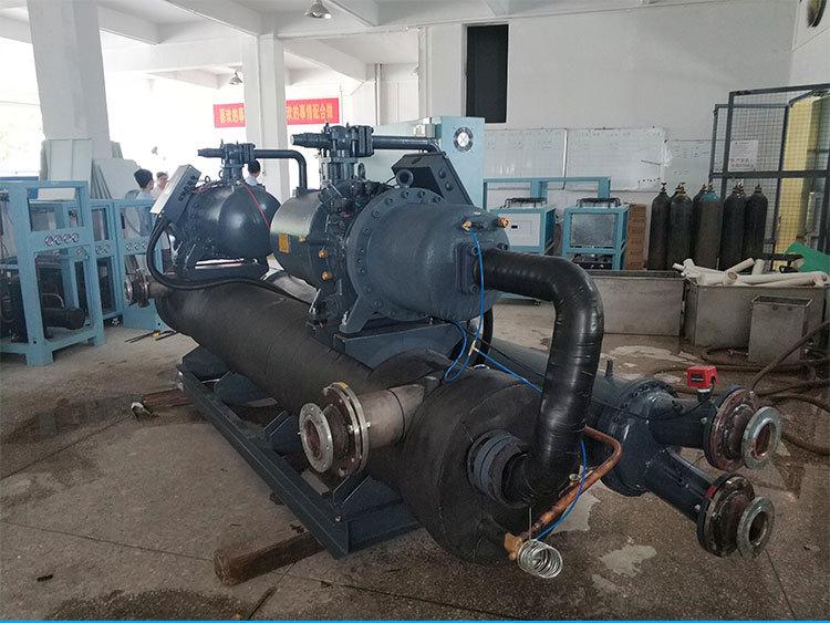 大型工业螺杆式冷水机组水冷200HP匹单双机头订做上门维护保养
