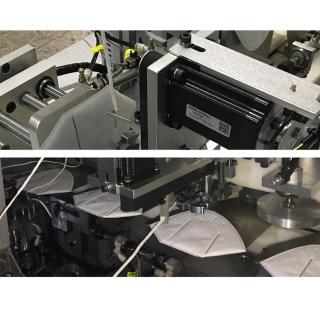 现货直销全自动KN95口罩流水式焊耳带机耳带点焊机生产线分钟35片以上