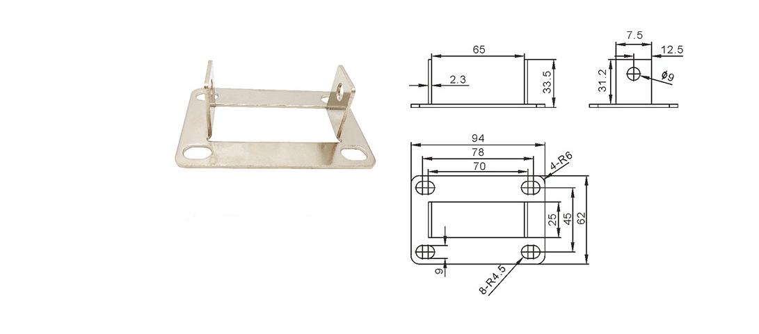流水线配件输送带配件脚轮座脚轮固定座6262型材