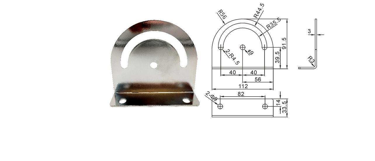 流水线配件输送带配件 皮带线弧度连接块