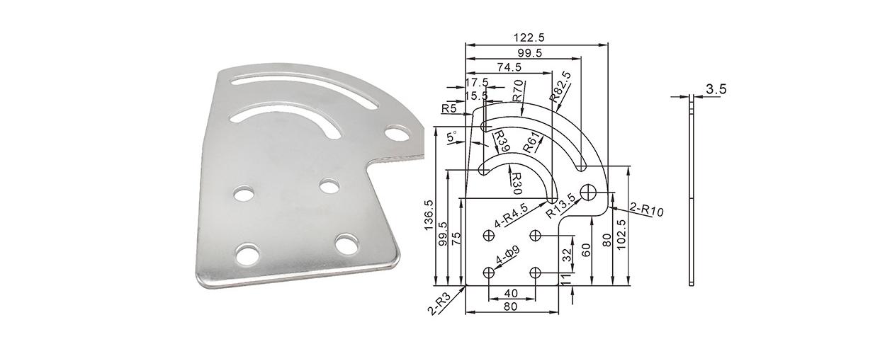 流水线配件输送带平台连接片铝型材紧固件 半圆弧连接件